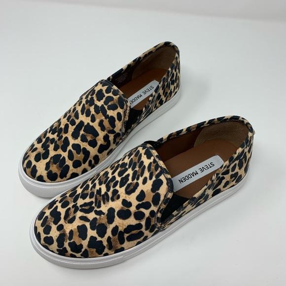 8adc42ae9bcb Steve Madden Shoes | Leopard Safary Slip On Sneakers | Poshmark